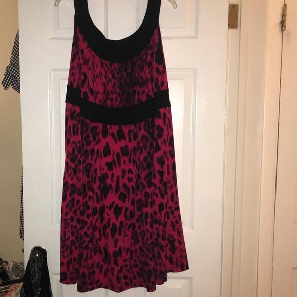 5c795964259f Dresses   Pink And Black Leopard Print Dress Size 18   Poshmark